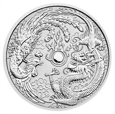 2017-P Australia $1 1 oz. Silver Dragon & Phoenix In Mint Cap SKU43907