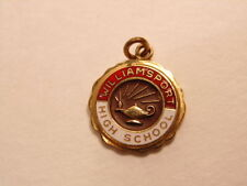 Older gold colored scholastic pendant or charm: Williamsport High School