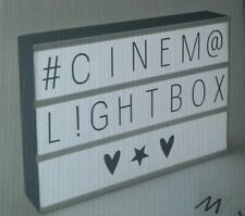 A4 Lightbox Cinema Letter Box Cinematic LED Wall Sign Plaque Black & 85
