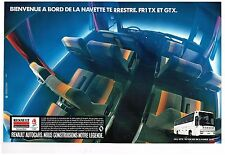 Publicité Advertising 1990 (2 pages) Autocars Bus FR1 GTX Renault