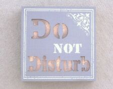 LED NOVELTY SIGN DO NOT DISTURB WALL OR FREESTANDING BOX STYLE GREY & WHITE