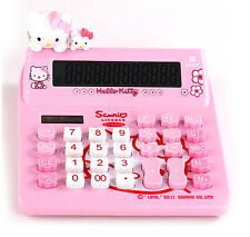 Cute Hello Kitty Desk Basic Desktop Electronic Calculator Pink