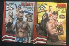 2 WWE Coloring Activity Books STICKERS & Posters JOHN CENA Rock CM Punk Big Show