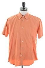 ENRICO COVERI Mens Shirt Large Orange Cotton