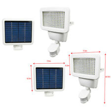 2 PACK 150 SMD LEDs Solar Powered White Motion Sensor Security Light Flood 100