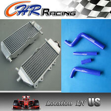 Aluminum radiator and BLUE hose Yamaha YZ125 2005-2014 2006 2007 2008 2009 2010