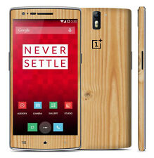Textured Skin Sticker For ONEPLUS ONE +1 Decal - Carbon Metal Wood Leather Matt