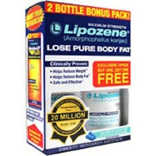 LIPOZENE MAXIMUM STRENGTH 2 BOTTLES BONUS PACK WEIGHT LOSS DIET PILLS EXP 08/19