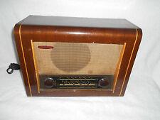 VINTAGE Wooden Cased RADIO VALVE Tube PYE Radio Cambridge MAINS Inlaid Oak