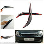 2 Pcs Black Soft Plastic Car Front Bumper 3M Anti-Rub Protective Strip For Honda