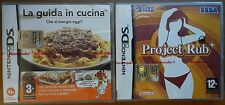 X2 Gioco Game La Guida in Cucina Project Rub Nintendo DS Sonic Team Sega Touch