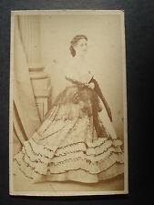 Photo CDV: Ch.Reutlinger ;  Actrice de Théâtre , vers 1870 Tirage albuminé