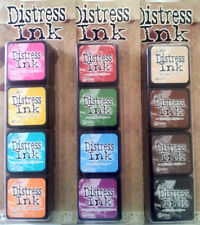 Ranger Tim Holtz Mini Distress Ink Pads  Kit  #1, 2 & 3  Lot  Set of 12  Colors