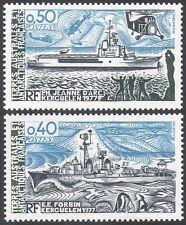 FSAT/TAAF 1979 Ships/Navy/Helicopters/Boats/Penguins/Transport 2v set (n23260)