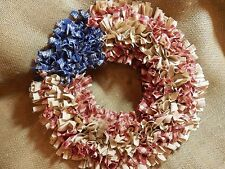 Flag Door Wreath Primitive Americana Decor, Farmhouse Wreath, Handmade in NJ