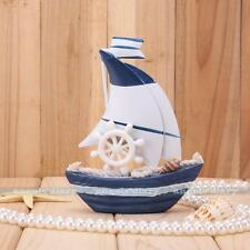 Nautical Decor Mini Wooden Craft Sailing Boat Home Party Table Dislpay Gift #1