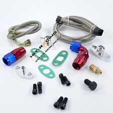 Oil Feed Line Kit Fitting For Toyota Supra 1JZGTE 2JZGTE 1JZ/2JZ Single Turbo