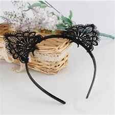 Fashion Women Lady Girls Cat Kitty Costume Ear Party Lace Hair Head Band Prop FT