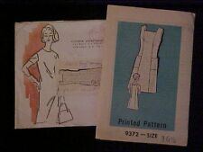 Vintage Mail Order Ladies' Dress w/ Pockets in Half Sizes, 9372 UNCUT