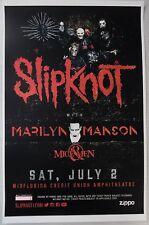 Slipknot - Saturday July 2nd, 2016 * ORIGINAL CONCERT POSTER * RARE