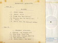 2383359 GEORGE HURST/BOURNEMOUTH SINFONIETTA elgar/williams test pressing LP EX/