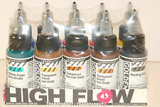 Golden High Flow Acrylic 10 Color Professional Artist Set 1 fl. oz. Sealed 954-0