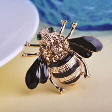Enamel Pins Bee Brooches Esmalte Broches 18K Gold Plated Champagne christmas HQ