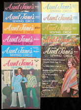 VTG LOT 9 AUNT JANE'S SEWING CIRCLE 1972-'76 DOLL CLOTHES CROCHET TAT WEAVING