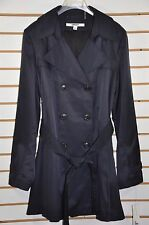 Women's DKNY Double Breasted Trench Coat with Detachable Hood. Sz.XL, $200. Navy