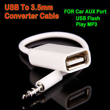 3.5mm Male AUX Audio Plug Jack To USB 2.0 Female Converter Cord Cable Car MP3