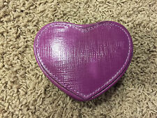 NWOT COACH PURPLE HEART SHAPED JEWELRY HOLDER MIRROR AND POUCH INSIDE 67741