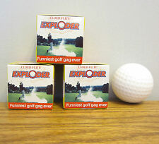 3 EXPLODING GOLF BALLS EXPLODES IN A CLOUD OF SMOKE GAG GIFT PRANK