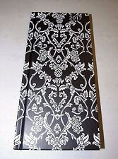 2017 BLACK & WHITE FLORAL VINE SLIM POCKET DIARY YEARLY PLANNER JOURNAL