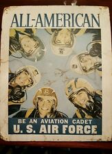 """ALL-AMERICAN BE AN AVIATION CADET U.S. AIR FORCE SIZE 10 3/4"""" X 13 3/4"""" MATTED"""