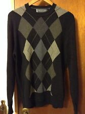 Oscar De La Renta Geometric Design Men's Sweater Size Large Crewneck