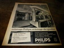 PHILIPS - ECLAIRAGE DE VITRINE - Publicité de presse / Press advert !!! 1958 !!