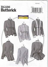 19th Century Victorian Boned Jackets Costume Sewing Pattern Plus 14 16 18 20 22