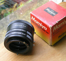 earlier  mamiya bayonet NC 35mm SLR extention tubes set