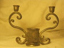 ornate vintage Italian candle stick holder Italy 3 holders base