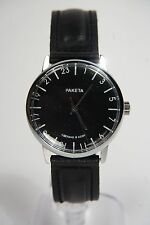 Russian mechanical watch RAKETA 24H Black dial. 34mm