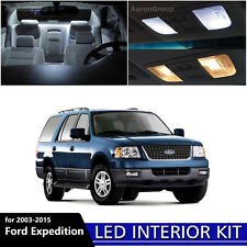 17PCS White Interior LED Light Package Kit for 2003 - 2015 Ford Expedition