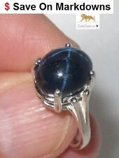 7.6 ct 6 Rays Star Sapphire Silver Ring  ( Was $ 329.95 )