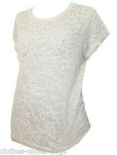 TOPSHOP MATERNITY EMBELLISHED TOP T SHIRT  SIZE UK 10 EUR 38 US 6 NEW FREE P&P