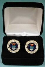 Air Force Crest Cufflinks in Presentation Gift Box USAF