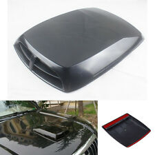1PC Black ABS Car Hood Outlet Decorative Parts Auto Accessories  Large Size