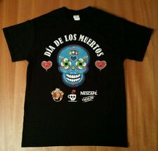 NWOT NESCAFÉ DÍA DE LOS MUERTOS DAY OF THE DEAD NESTLE SKULL BLACK T-SHIRT M