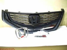 06-07 HONDA ACCORD NH658P CL7 CL9 EURO R FRONT GRILLE + EURO EMBLEM  ACURA TSX