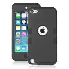 Apple iPod Touch 5th 6th Generation Case Fashion 3 layer Rugged Cover -Black