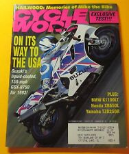 CYCLE WORLD MAGAZINE SEPT/1992...SUZUKI'S NEW LIQUID-COOLED GSX-R750 FOR 1993