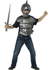 Kids Medieval Armour Accessory Costume Kit Helmet Sword Body Armour Chest Piece